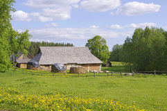 Lithuanian village house Stock Photo
