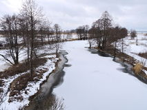 Lithuanian winter landscape Royalty Free Stock Photography