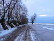 Lithuanian winter landscape Royalty Free Stock Images