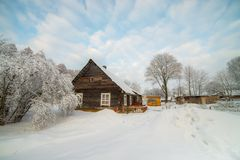 Lithuanian winter royalty free stock photography