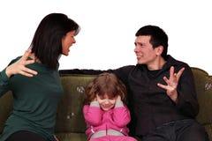 Litigio della famiglia Fotografia Stock Libera da Diritti