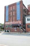 LITITZ, PA - 8月30日:著名的Wilbur Chocolate Company在路线501总部设在2014年8月30日的Lititz 免版税库存照片