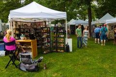 Lititz Fine Art Show Artist at Tent stock photography