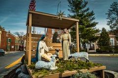 Lititz Nativity Scene Display royalty free stock image