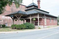 LITITZ, PA - 30 DE AGOSTO: Vieja estación de tren de ferrocarril de Lititz el 30 de agosto de 2014 Fotografía de archivo