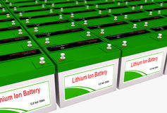 Litium Ion Battery Bank Royaltyfri Foto