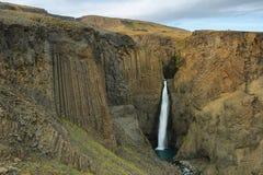 Litlanesfoss-Wasserfall Lizenzfreies Stockfoto