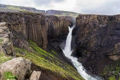 Litlanesfoss waterfall Stock Photography