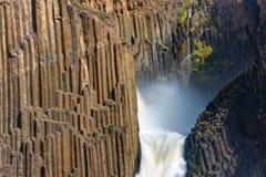 Litlanesfossen i Island Fotografering för Bildbyråer