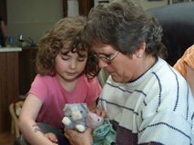litle бабушки девушки Стоковое Фото