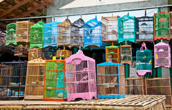 Litle birds in the cage. Java, Indonesia. Stock Photography