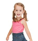 Litle girl in casual clothes Stock Photography