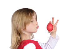 Litle girl with easter egg Stock Photography