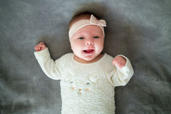 Litle girl 2 month Royalty Free Stock Photo