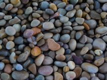 Litle stones on the beach royalty free stock image