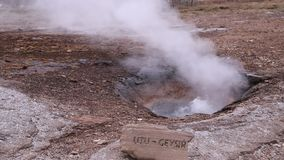 Litli Geysir stock video footage
