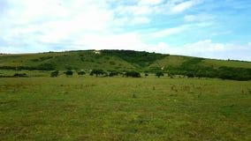 LitlingtonÂ村庄白马theCuckmereÂ谷inÂ的东萨塞克斯郡,英国,  库存图片