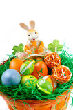 Litlle Bunny With Eggs Stock Photo