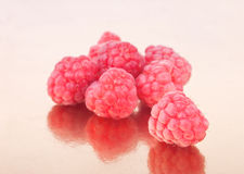 Litlle handful of raspberries Royalty Free Stock Image