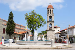 Litochoro, Greece, central square Royalty Free Stock Image