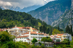 Litohoro town near Mount Olympus in Greece Stock Photos