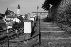 Litomerice black and white Stock Photos