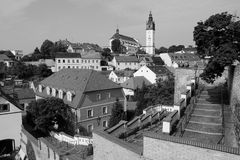 Litomerice black and white Royalty Free Stock Photography
