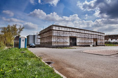 Litomerice, Czech republic - April 14, 2017: building new store of shopping park in spring Royalty Free Stock Photography