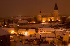 Litomerice in the Night, Czech Republic Stock Photography