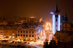 Litomerice in the Night, Czech Republic Royalty Free Stock Photography