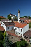 Litomerice with St. Stephen cathedral Royalty Free Stock Image