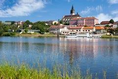 Litomerice stad, Tjeckien, Europa Arkivbild