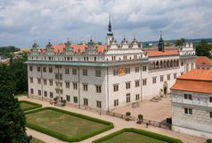 Litomysl, Czech republic. Renaissance castle Litomysl in eastern Bohemia, Czech Republic Royalty Free Stock Images