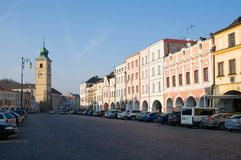 Litomysl, Czech republic. Smetana Square in the Litomysl, eastern Bohemia, Czech republic - UNESCO stock photo