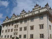Litomysl historical chateau from outside. Litomysl historical unesco heritage chateau from outside Stock Photo