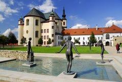 Litomysl - jardín del monasterio Fotografía de archivo libre de regalías