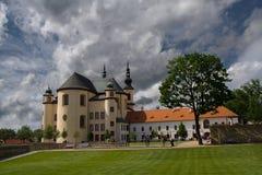 Litomysl Monastery gardens. Monastery gardens of Litomysl and scenic sky Royalty Free Stock Photography