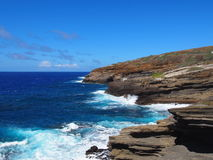Litoral áspero de barlavento de Oahu Fotos de Stock