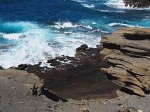 Litoral áspero de barlavento de Oahu Fotografia de Stock Royalty Free