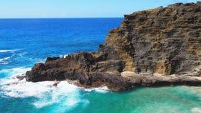 Litoral áspero de barlavento de Oahu Imagens de Stock Royalty Free