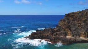 Litoral áspero de barlavento de Oahu Foto de Stock Royalty Free