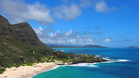 Litoral áspero de barlavento de Oahu Imagens de Stock