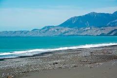 Litoral áspero de Kaikoura, Nova Zelândia Imagem de Stock