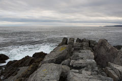 Litoral atlântico foto de stock