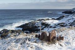 Litoral atlântico no inverno fotografia de stock royalty free