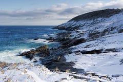 Litoral atlântico no inverno imagens de stock royalty free