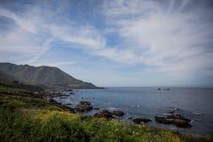 Litoral californiano - o Big Sur imagens de stock royalty free
