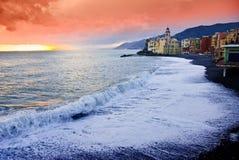 litoral的camogli 库存照片