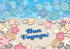 Litoral com shell e estrela do mar Imagens de Stock