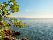 Litoral da baía de Kvarner na Croácia Fotografia de Stock Royalty Free